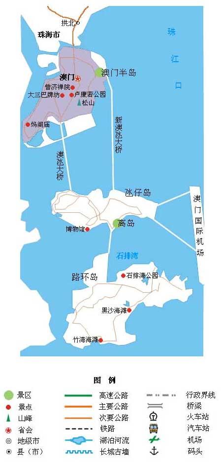 澳门景点地图