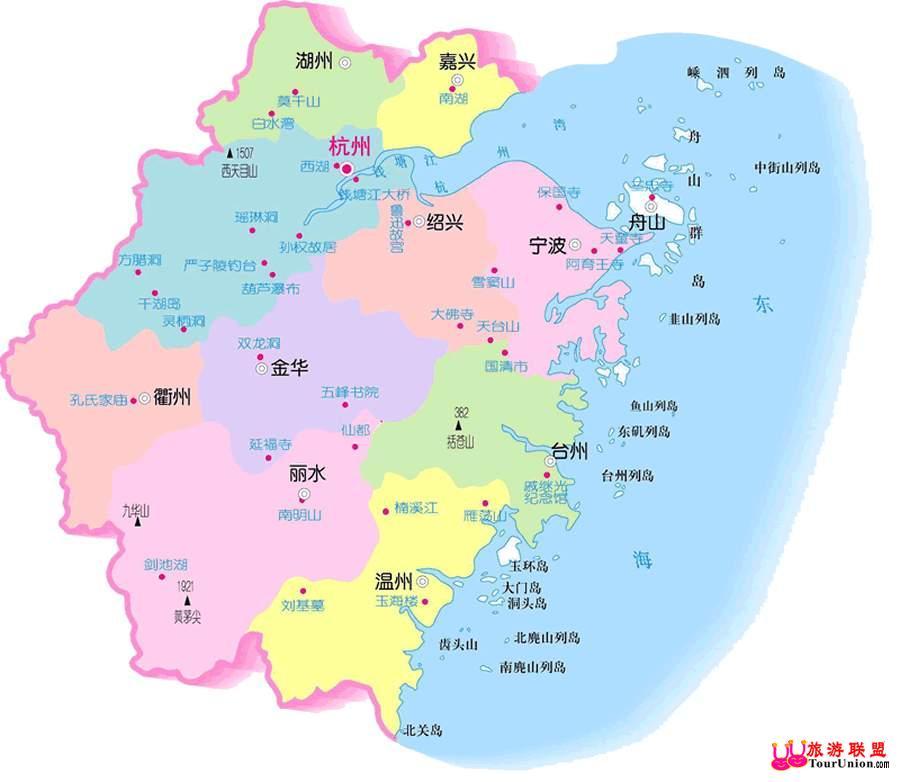 浙江地�_浙江旅游地图